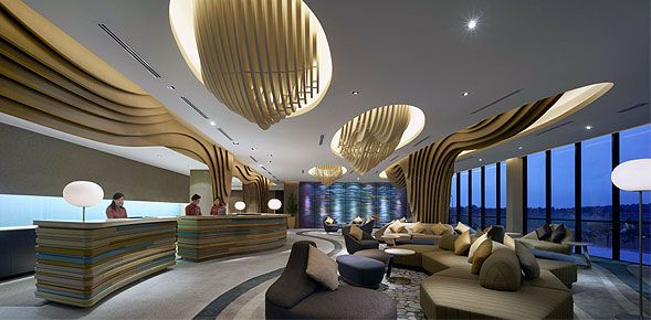 Traders Hotel Puteri Harbour Johor Malaysia To Open In Johor Malaysia Hotel Lobby Design Hotel Interior Design Lobby Design