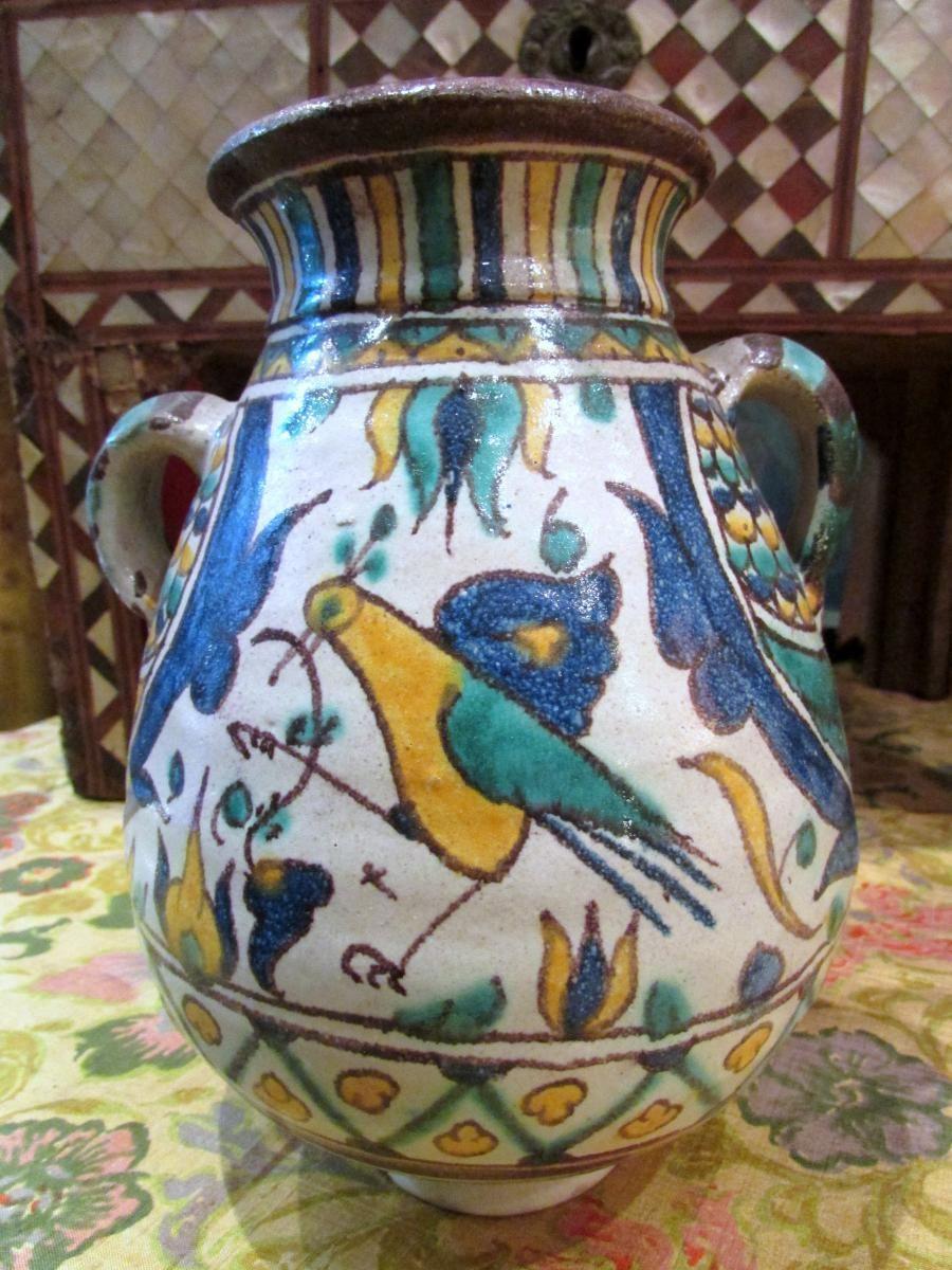 Vase ceramique poterie nabeul sign awlad chemla tunis tunisie beautiful tunisia people - Ceramique cuisine tunisie ...
