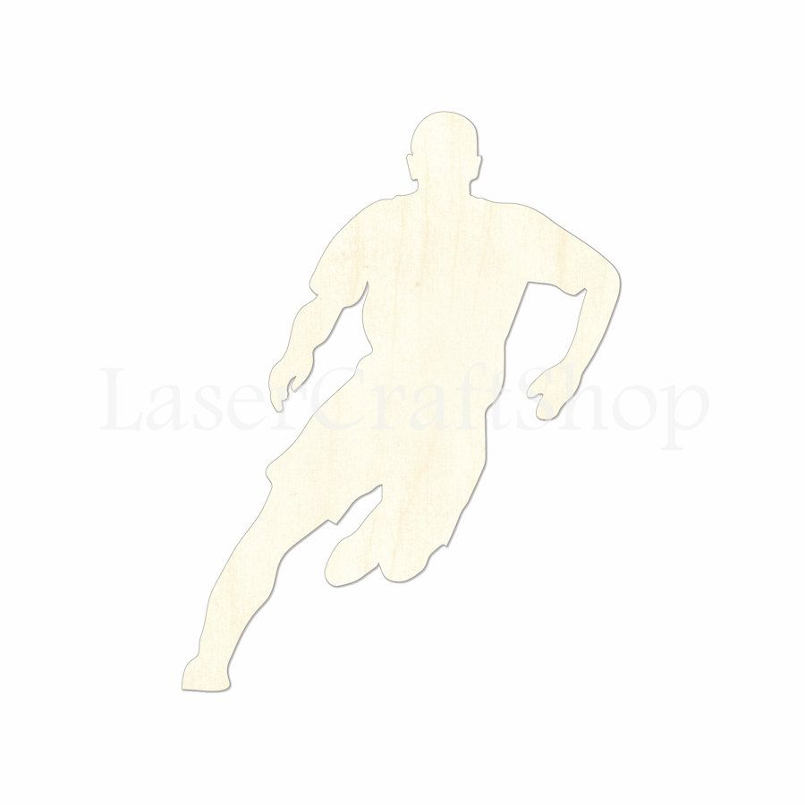 Soccer ornaments - 2 34 Soccer Player Wooden Cutout Shape Silhouette Gift Tags Ornaments Decoration Laser Cut Unfinished Birch Wood 1752