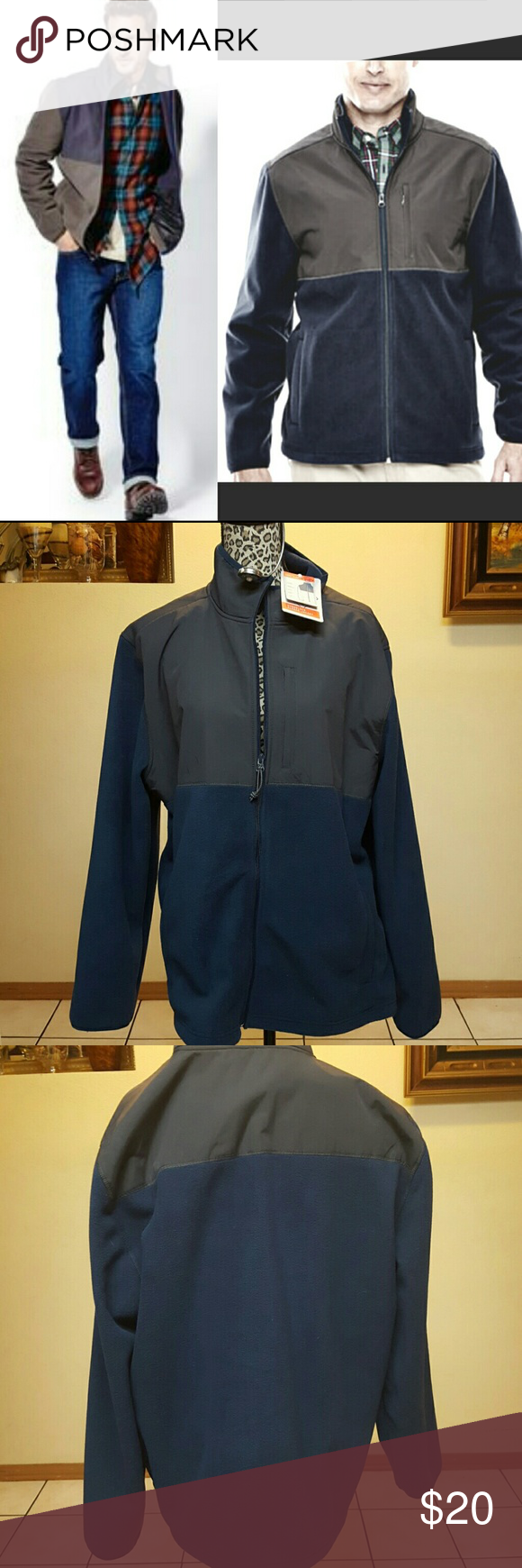 St. John's Bay Windblock Fleece JacketNWT