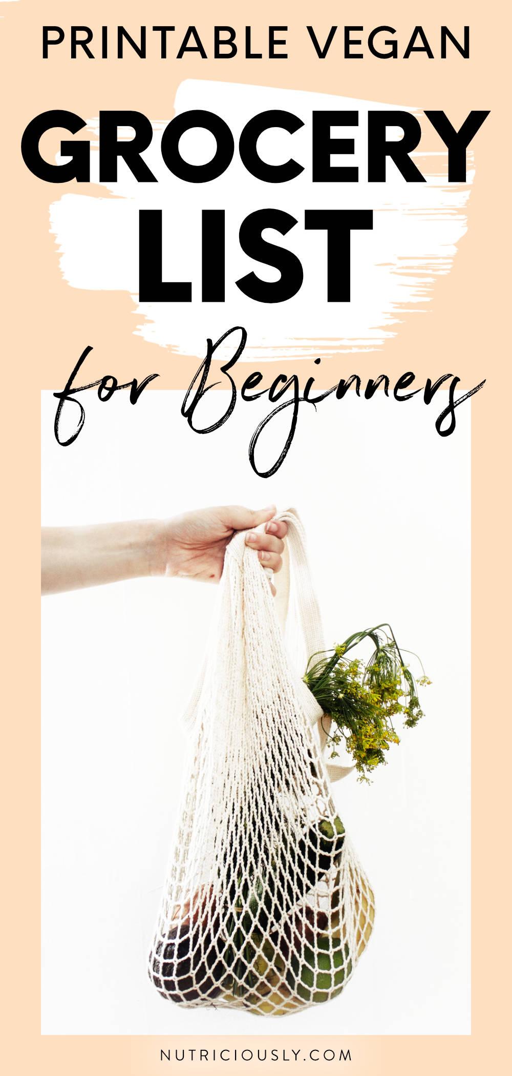 Ultimate Vegan Grocery List for Beginners (Printable PDF