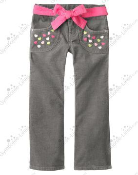 NW Gymboree Loveable Giraffe Heart Belted Corduroy Pant - Size 10 or 12 - 1 each - $20 shipped