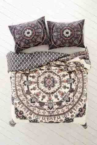 This Urban Outers Bedding Magical Thinking Moroccan Tile For Bed Accessories Idea Us Red And Yellow