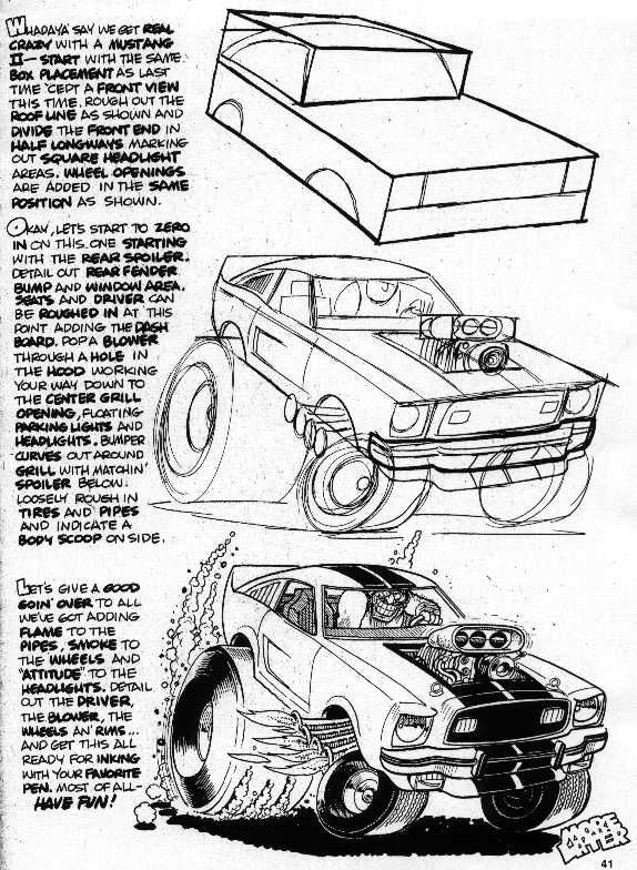 Trosley How To Draw 70s Mustang