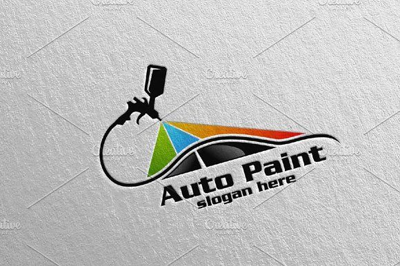 Car Painting Logo vol 1 by denayunebgt on @creativemarket ...