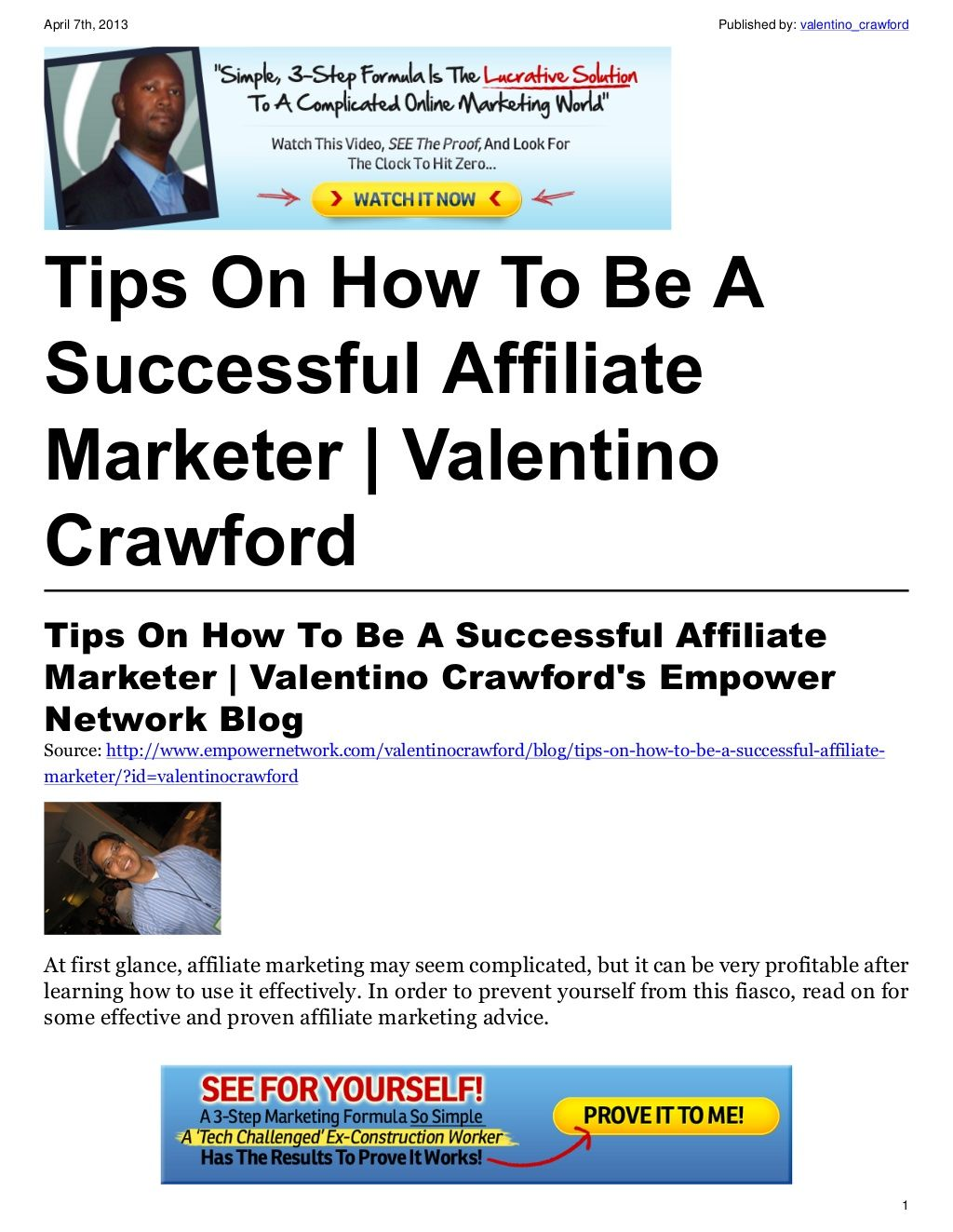 how to become a successful marketer