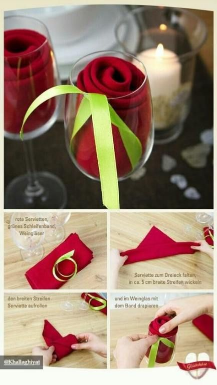 Trendy how to fold napkins in glasses ideas #foldingnapkins