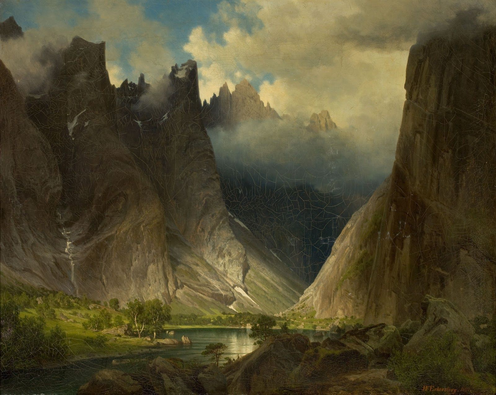 italian renaissance landscape painting | Norge, Mørk, Søk