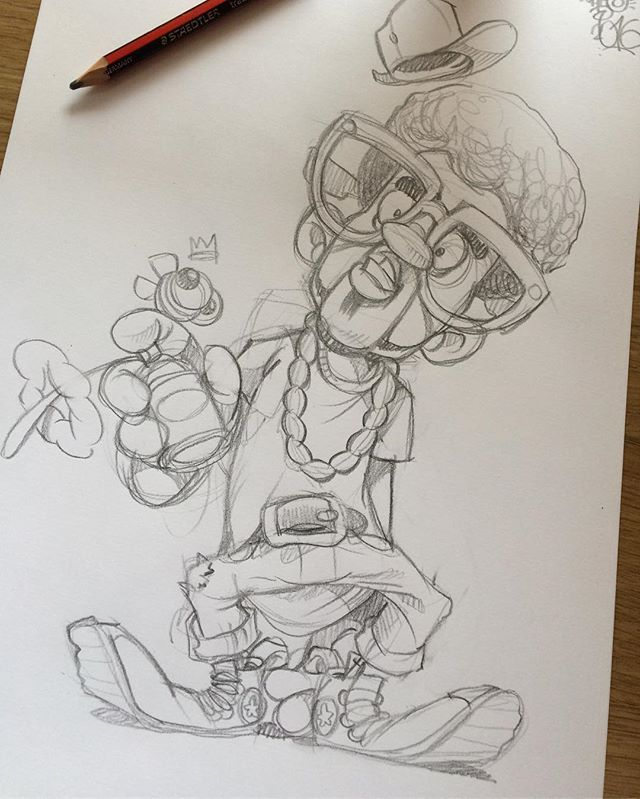 Cheo pencil sketch