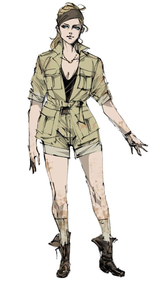 Cecile Cosina Caminades Characters Art Metal Gear Solid Peace Walker Metal Gear Metal Gear Series Metal Gear Solid Quiet