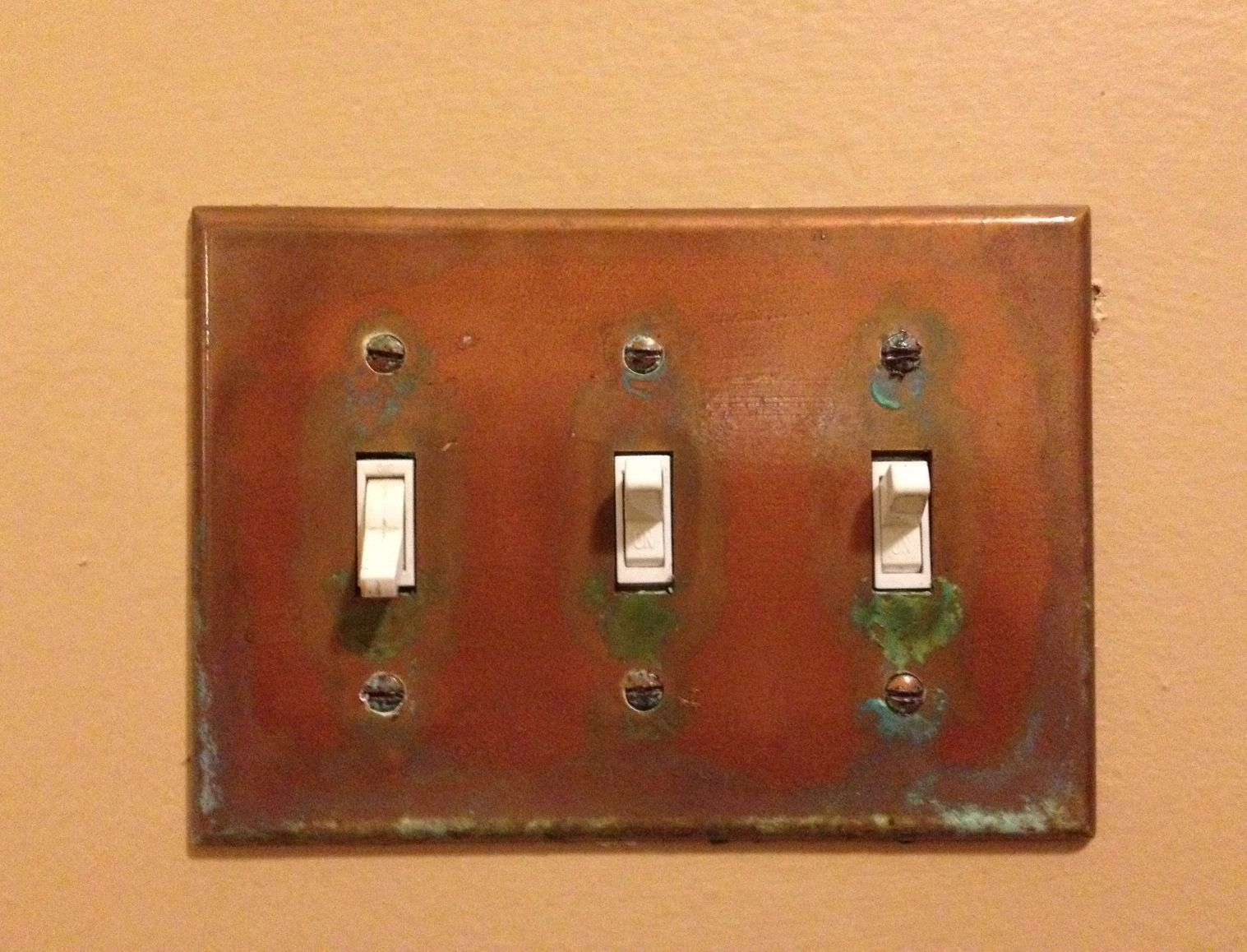 Kitchen Light Switch Covers Aged Copper Light Switch Coverthe Peculiar Antiquarian