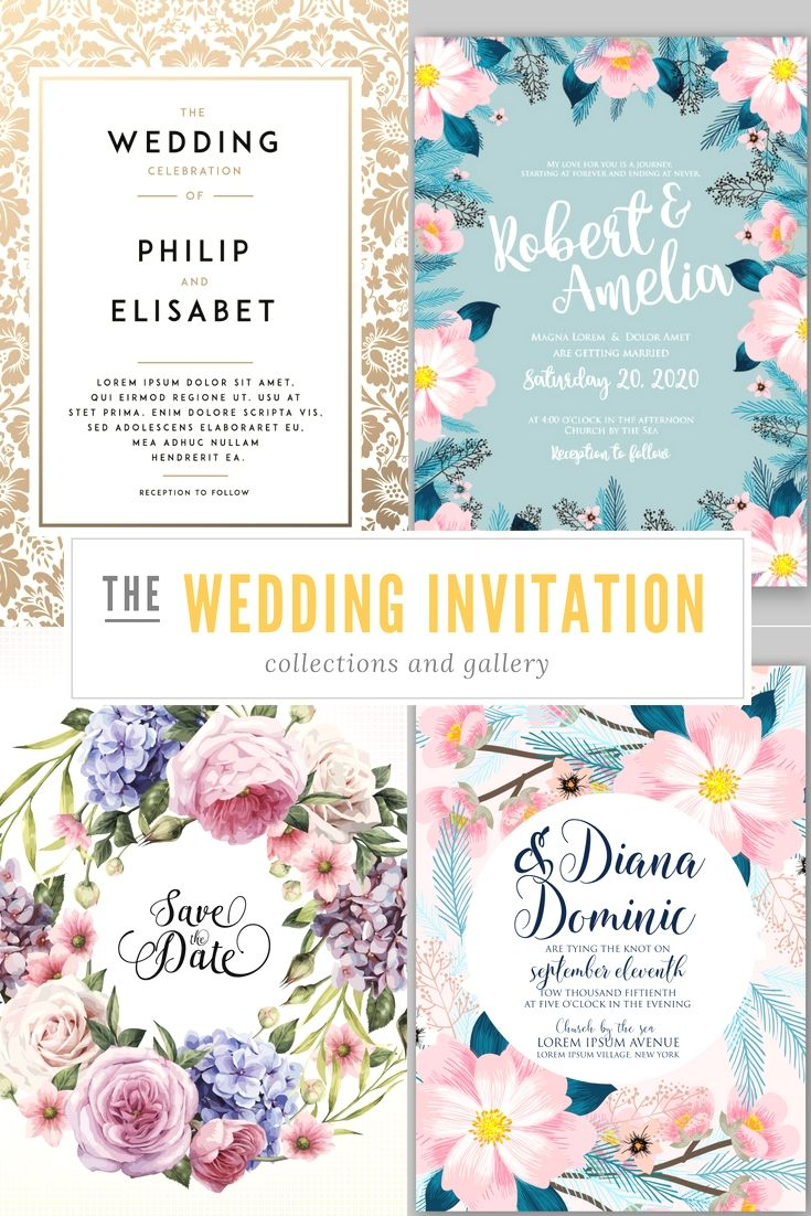 Elegant And Professional Wedding Invitation Cards Design Template ...