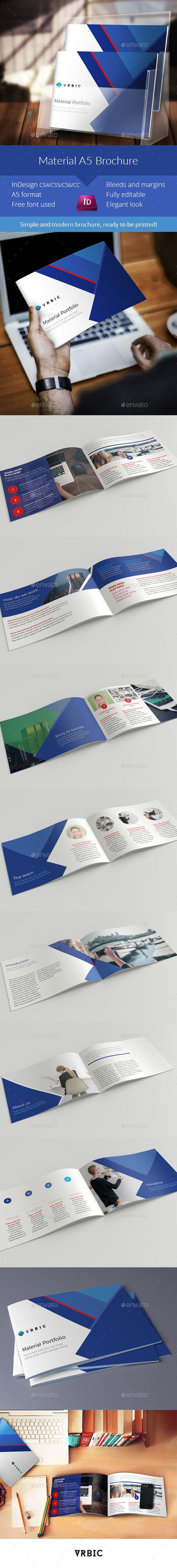 Material Business Brochure A5 InDesign Template