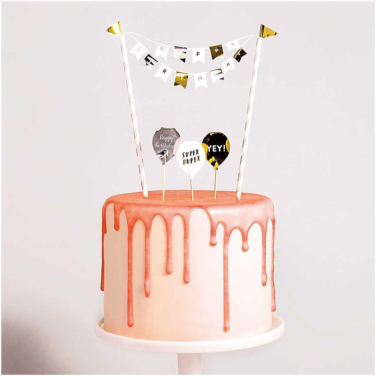kit de cake design Happy Birthday Cake Topper Kit  Happy birthday cake topper