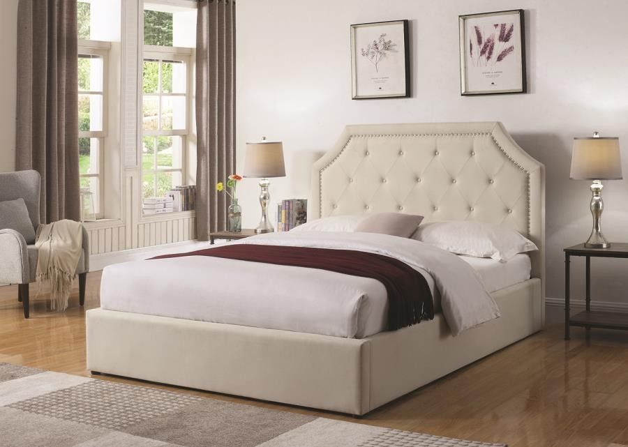 Best Hermosa Upholstered Bed Hermosa Beige Upholstered Queen 400 x 300