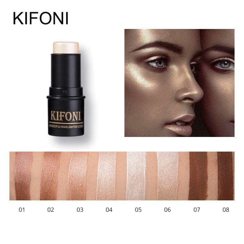Kifoni Makup Bronzer Highlighter Stick 8 Colors 3d Contour Makeup Concealer Pen Face Waterproof Glow Brigh Contour Makeup Concealer Pen Highlighter And Bronzer