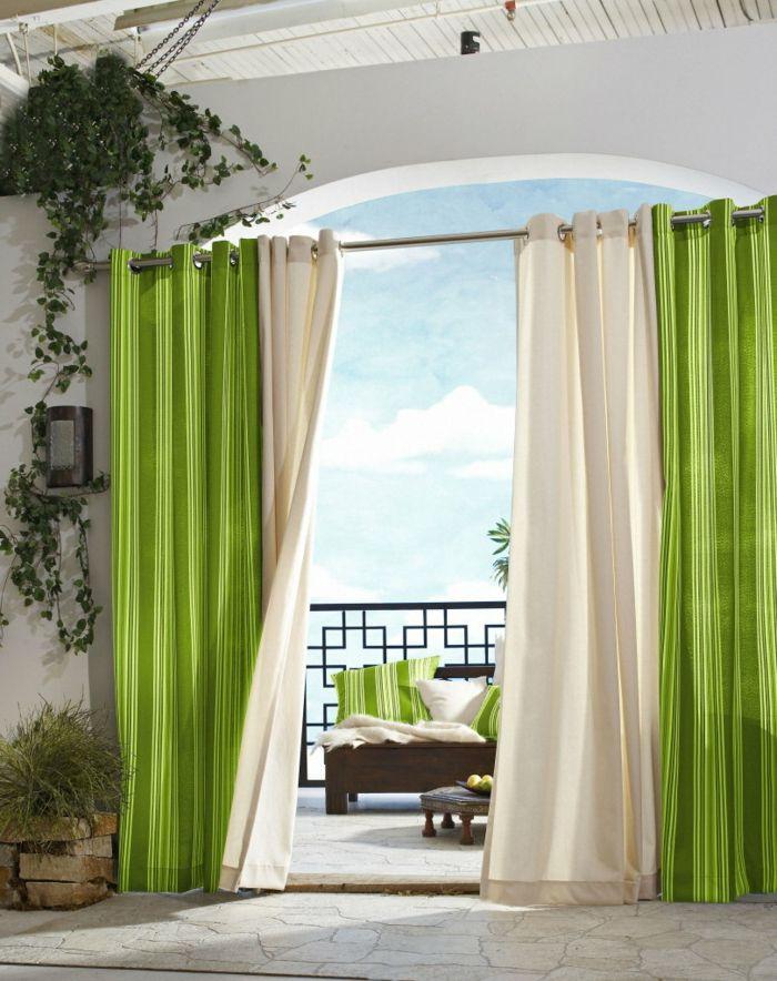 nice blickdichte gardinen frisch grün balkon wohnideen Hair