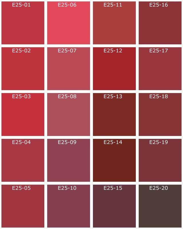 E25A-Rouge-Fonce-Nuancier-1000-Teintes-Natura.Jpg (640×800) | Home