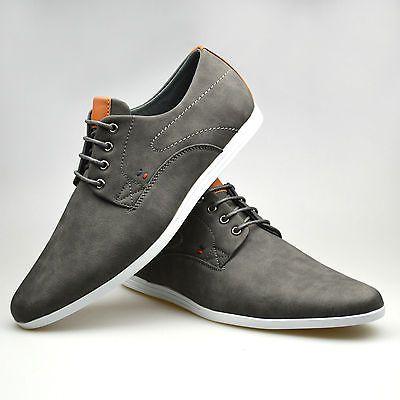 New Mens boy Black Suede Lace Up Formal Smart Rubber Sole Shoes UK 6 7 8 9 10 11