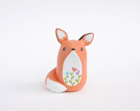 Miniature Fox Figure - the little prince fox, fairy garden ...
