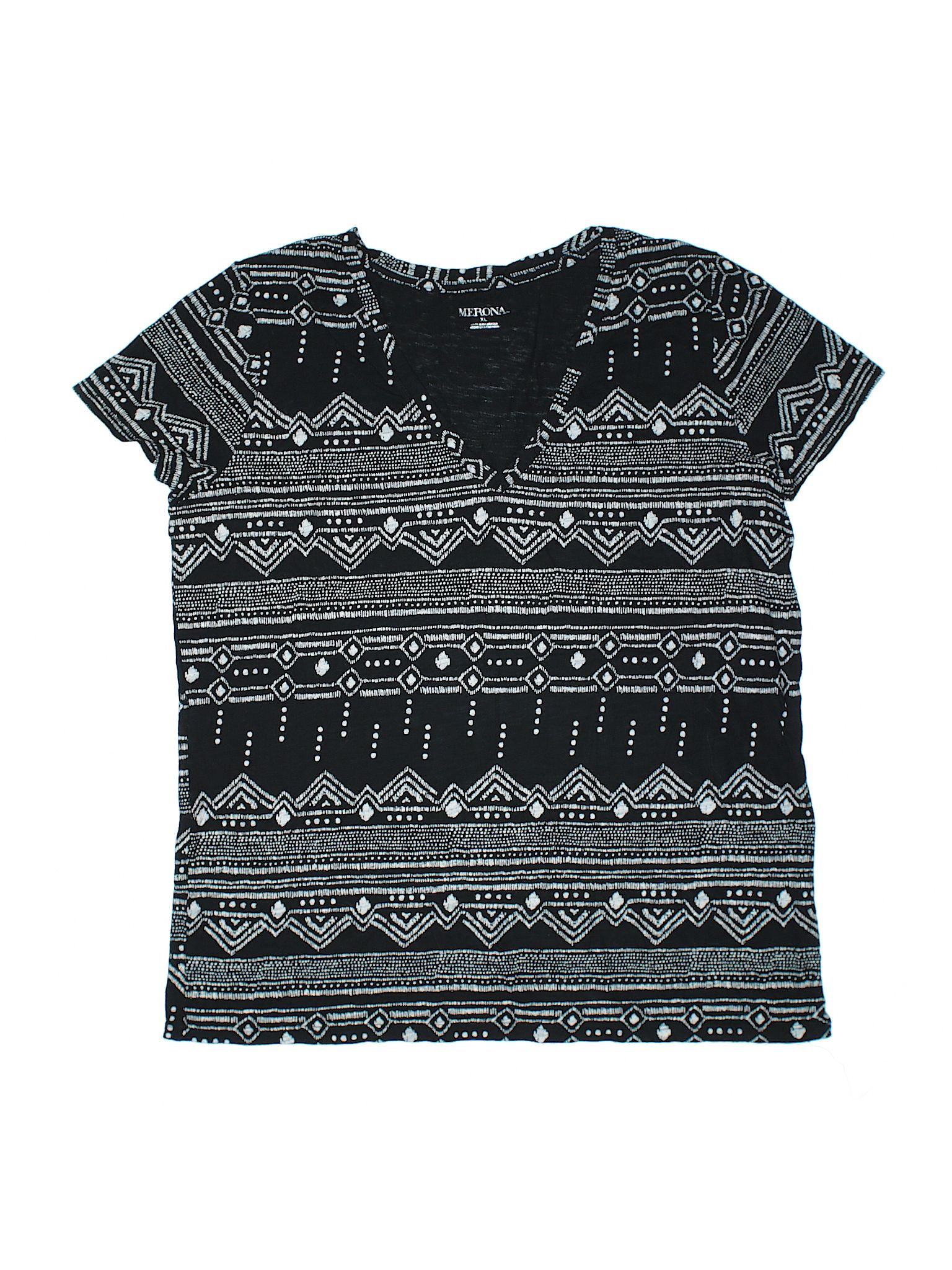 Merona Short Sleeve T Shirt Size 1200 Black Womens Tops