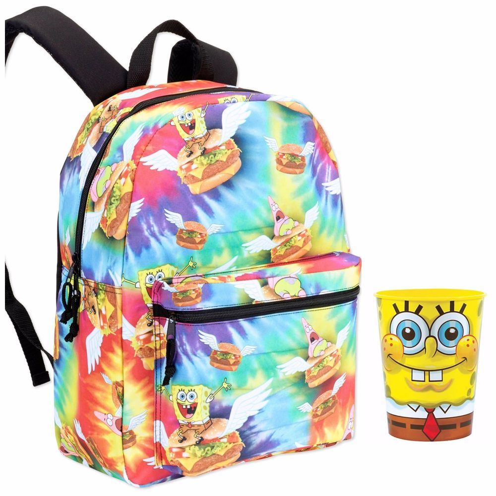 SpongeBob Backpack Cheeseburger School Bag 16