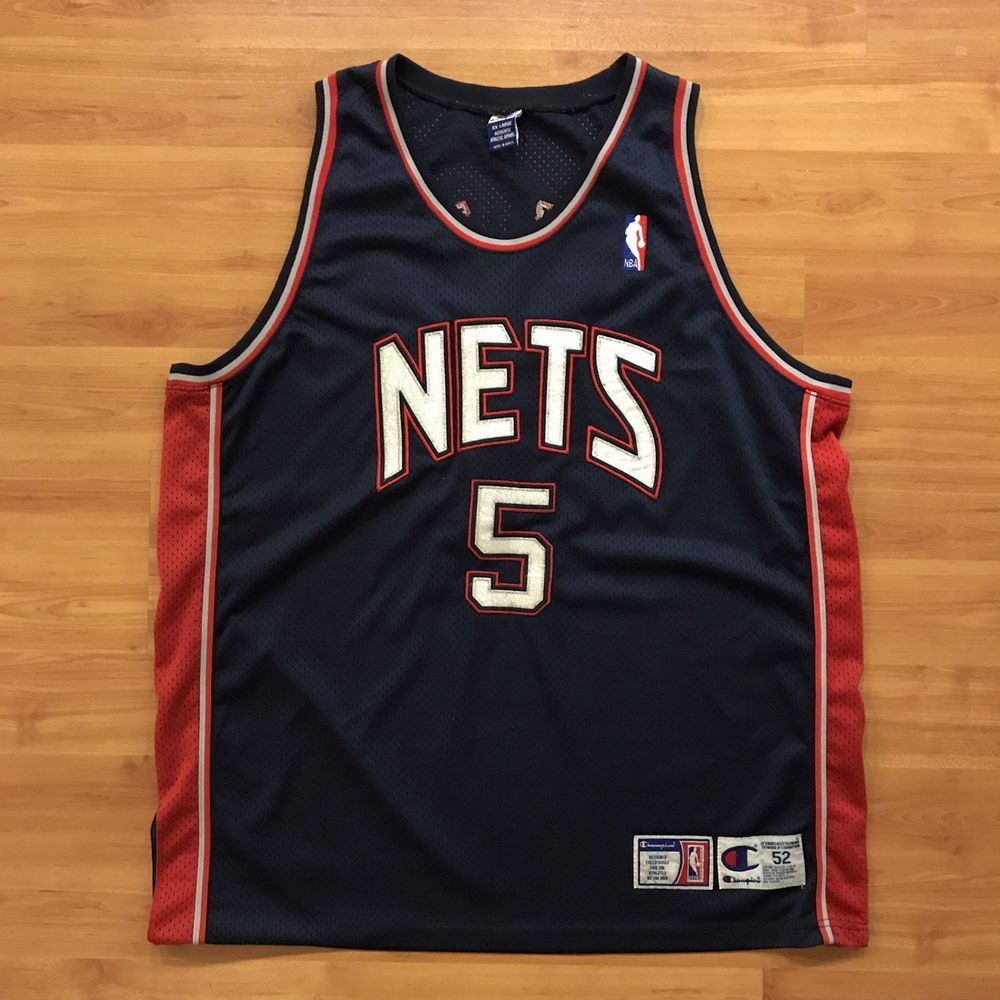 on sale d1325 33064 Details about Champion Authentic New Jersey Nets (Jason Kidd ...