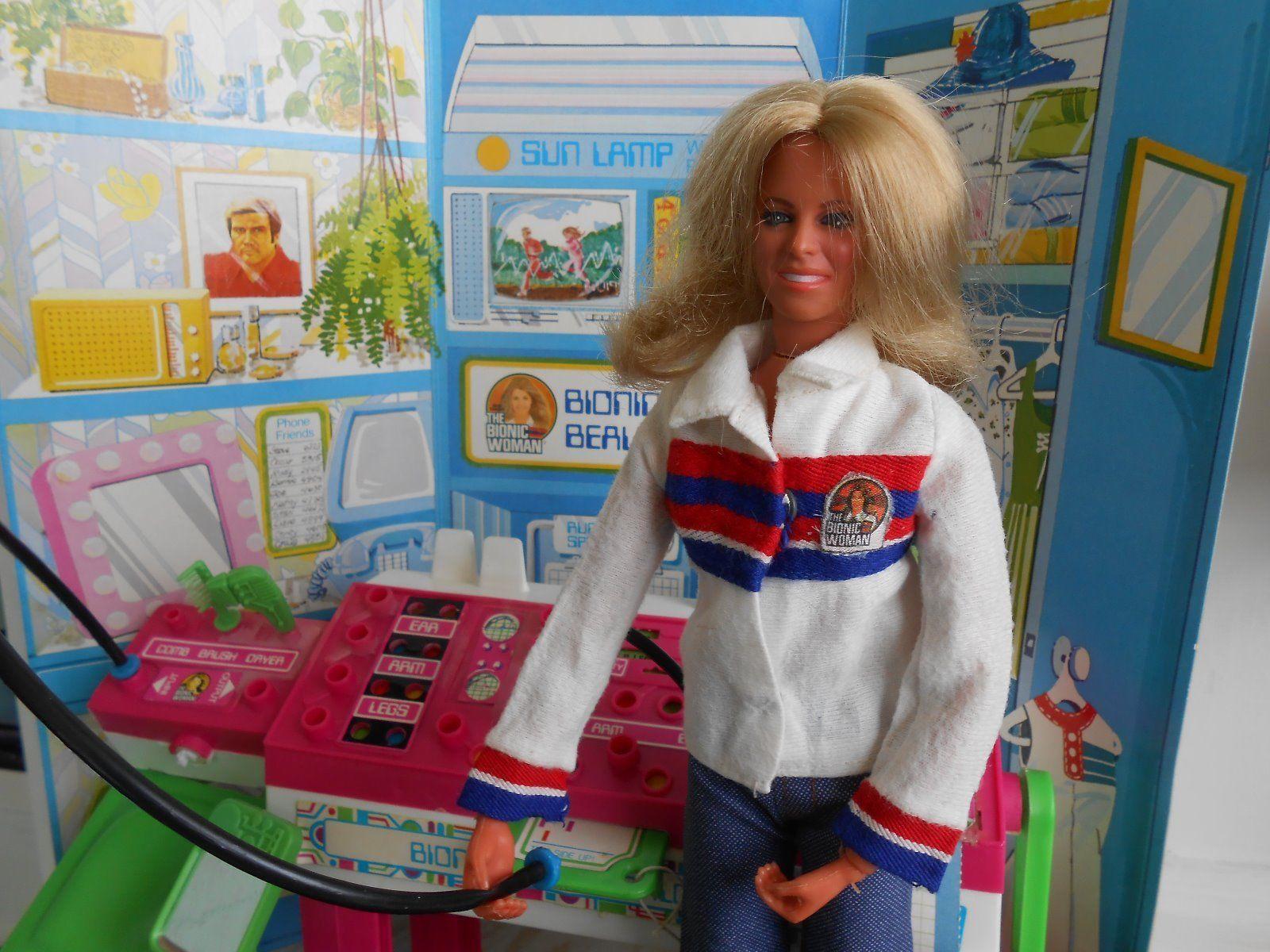 Kozmetični salon za lutke Bionic Woman Redke Kenner Playset Igrače-8369
