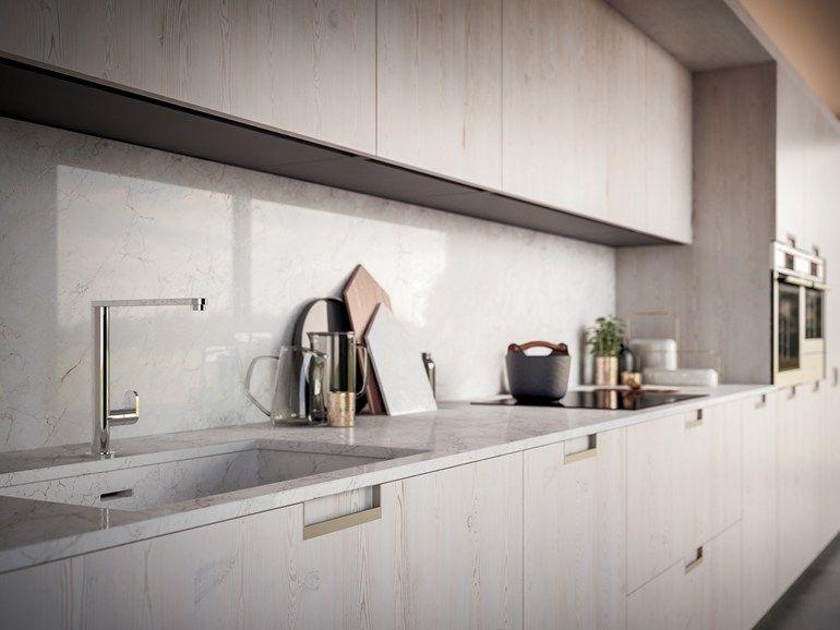 Lackierte Küche aus Holzfurnier mit Griffe VELVET HANDLE by GD - griffe für küche