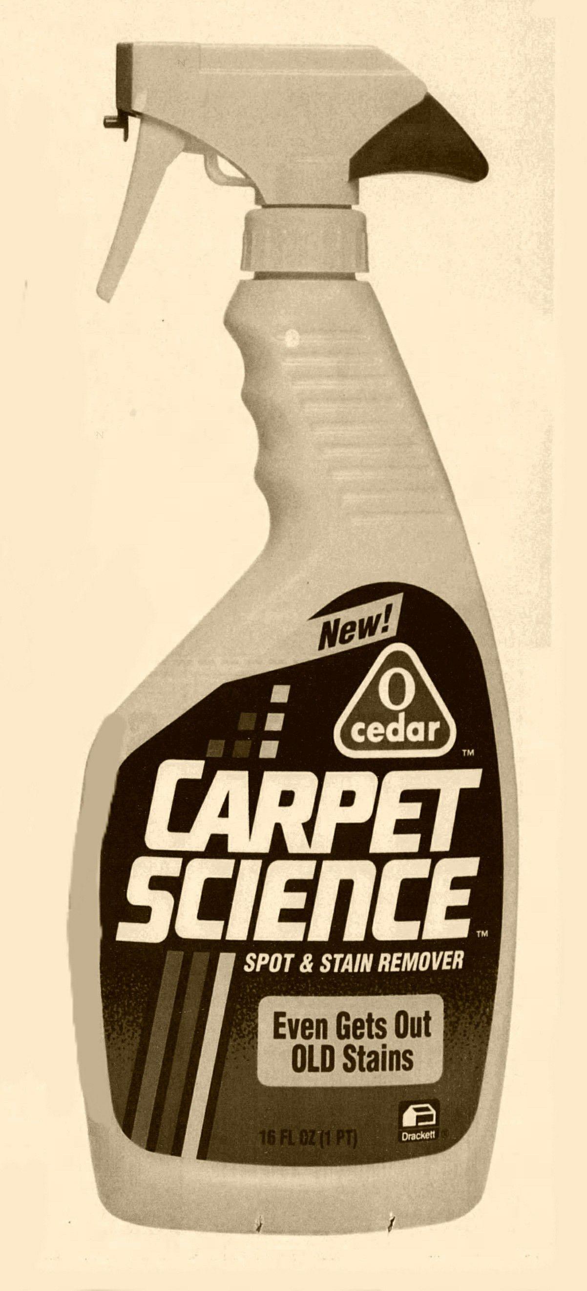 O Cedar Carpet Science Spot Stain Remover Bottle 1990s The