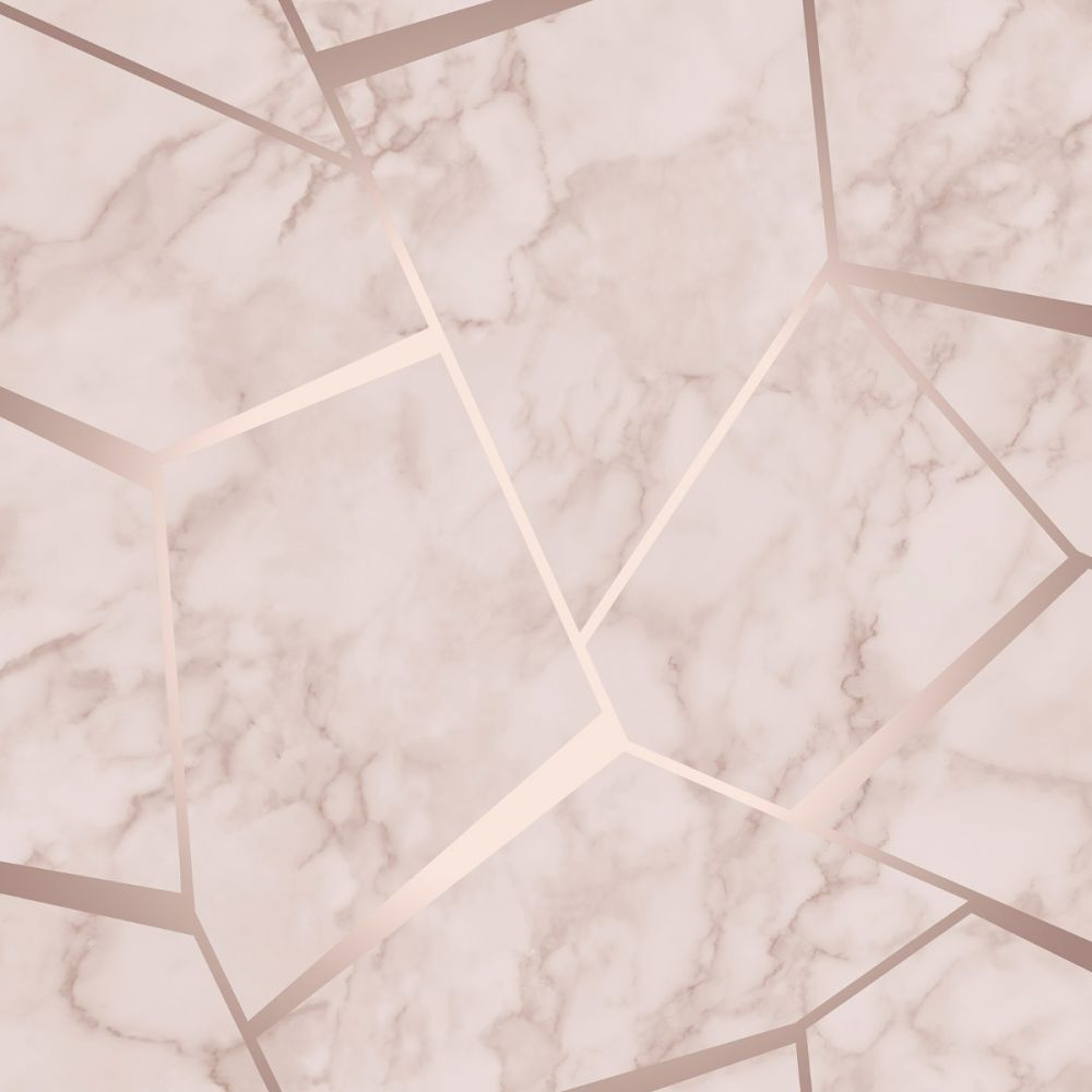 Fractal Geometric Marble Wallpaper Rose Gold Fine Decor