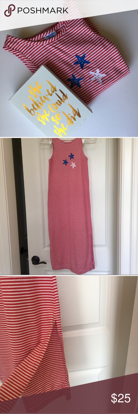 Stars And Stripes Maxi Dress Perfect For 4th Of July Sides Have Slits Euc Size M 7 8 Red White Blue Stars An Striped Maxi Dresses Striped Maxi Stripes [ 1740 x 580 Pixel ]