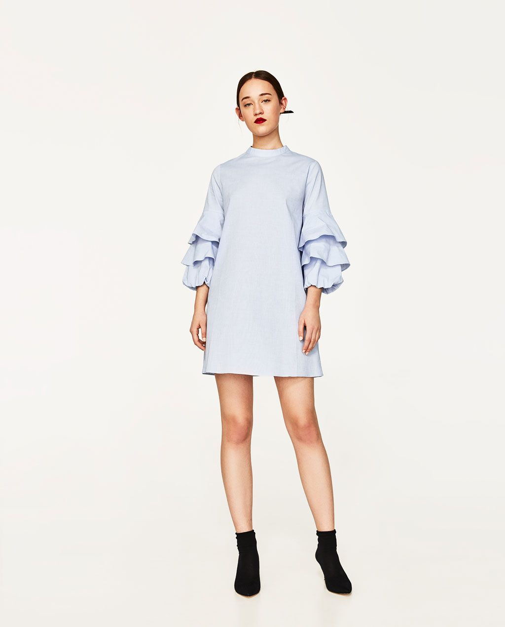 FRILLED-SLEEVE DRESS-View All-DRESSES-WOMAN  ZARA United States