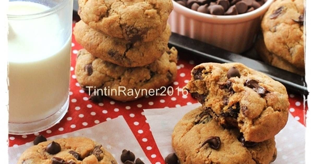 Resep Cookie Monster Chewy Chocochips Cookies Trial New Recipe Oleh Tintin Rayner Resep Resep Kue Kering Kue