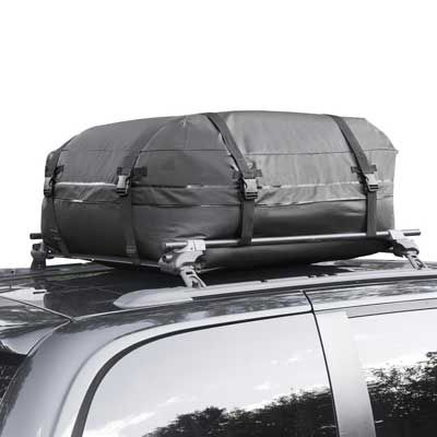 Cargo Roof Bag   Waterproof Car Top Carrier U2013 Easy To Install Soft Rooftop Luggage  Carriers With Wide Straps U2013 Ample Storage Space U2013 Folds Easily   Best For  ...
