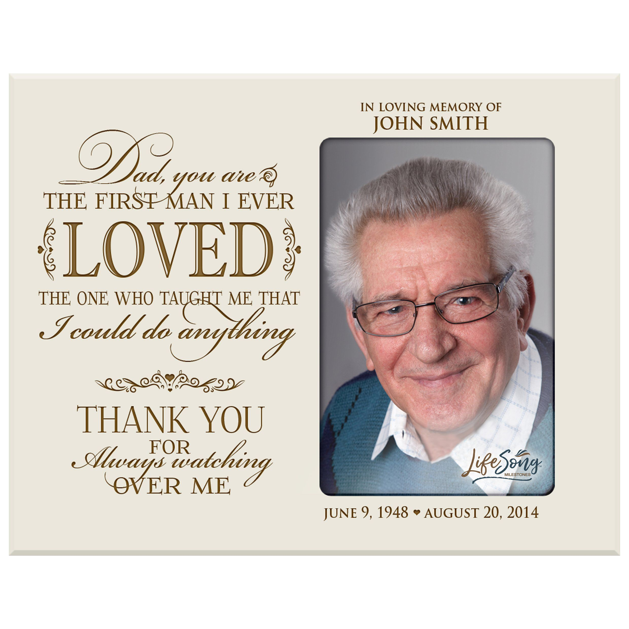 Download LifeSong Milestones Personalized Memorial Sympathy Picture ...