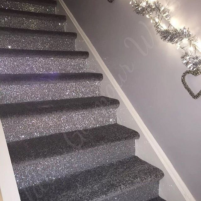 The Glittery World Of Silver Bedroom Ideas: Our Very Own Silver Glitter Wallcovering Used By Our