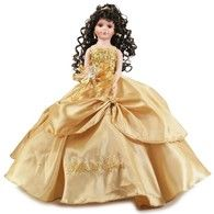 """Gold Quinceanera Doll, 22""""  Tall"""