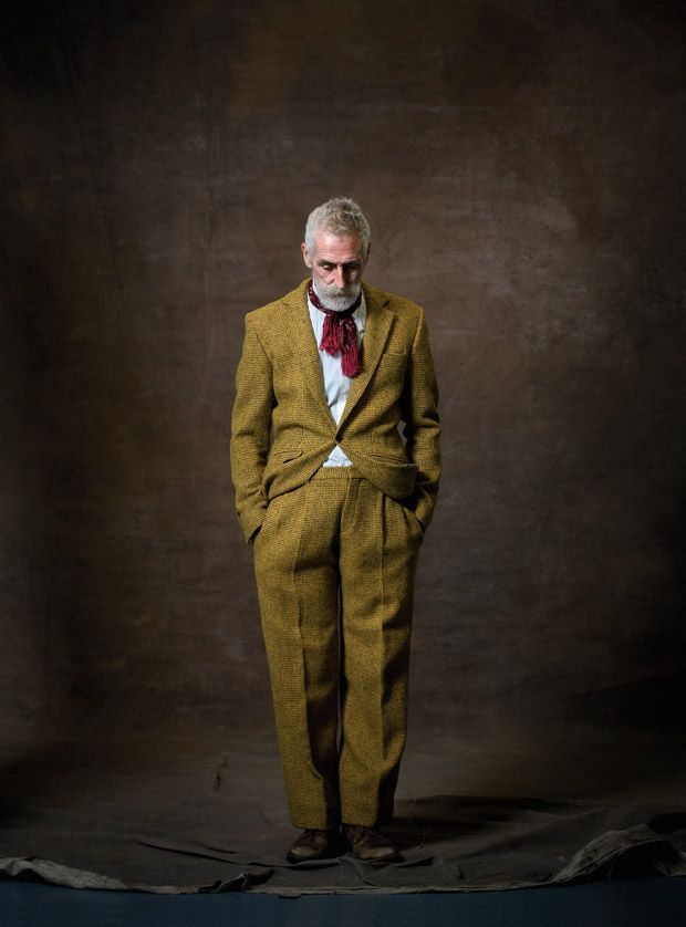 John Byrne photographed by David Eustace from 'Harris Tweed: The Story of the Greatest Cloth of All' by Lara Platman