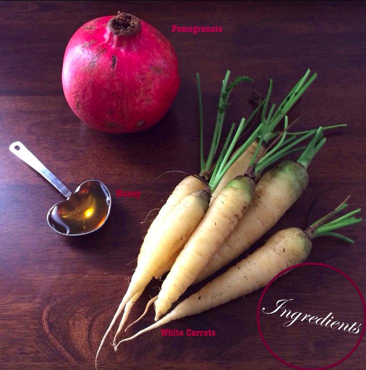 Pomegranate Honey Roasted Carrots