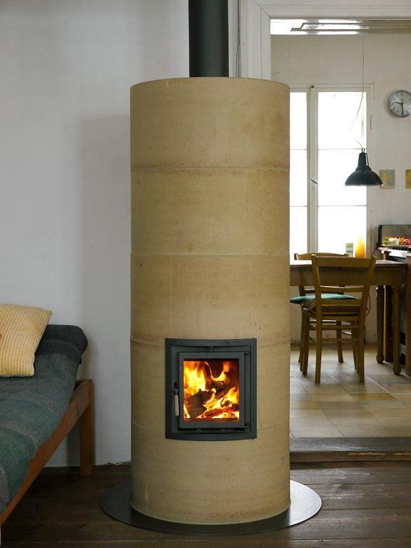 kamin fen und kamine s ule kamin rondo von rondolino. Black Bedroom Furniture Sets. Home Design Ideas