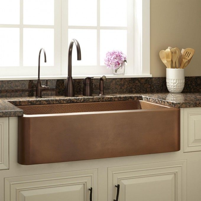 33 Raina Hammered Copper Farmhouse Sink With Images Copper