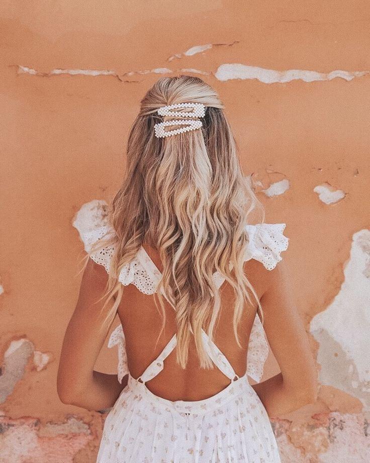 Beaded Pearl Hair Clip