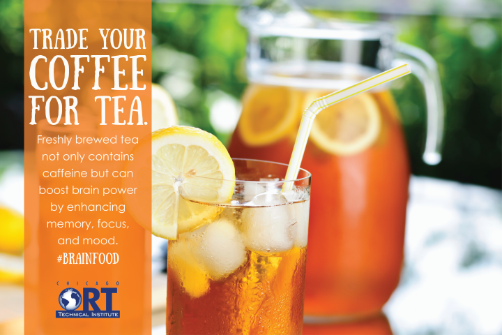 Choose tea for a healthier alternative when you're in need of a caffeine boost! #BrainFood with #ChicagoORT