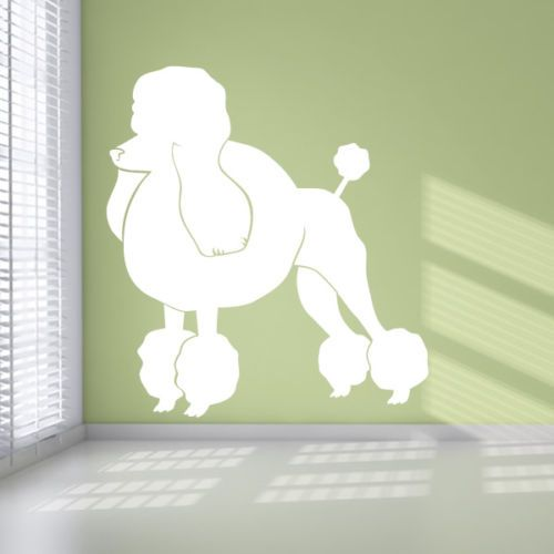 Poodle Dogs Animals Wall Art Stickers Wall Decal Transfers | eBay