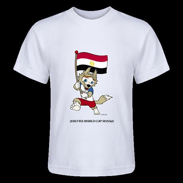 Egypt 2018 FIFA World Cup Russia™ Zabivaka Juvenile T-Shirt (White ... 323a7d44e