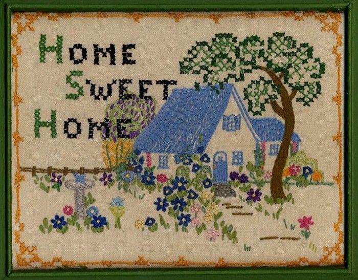 Home Sweet Home Embroidery   Bordados   Pinterest   Bordado y Costura