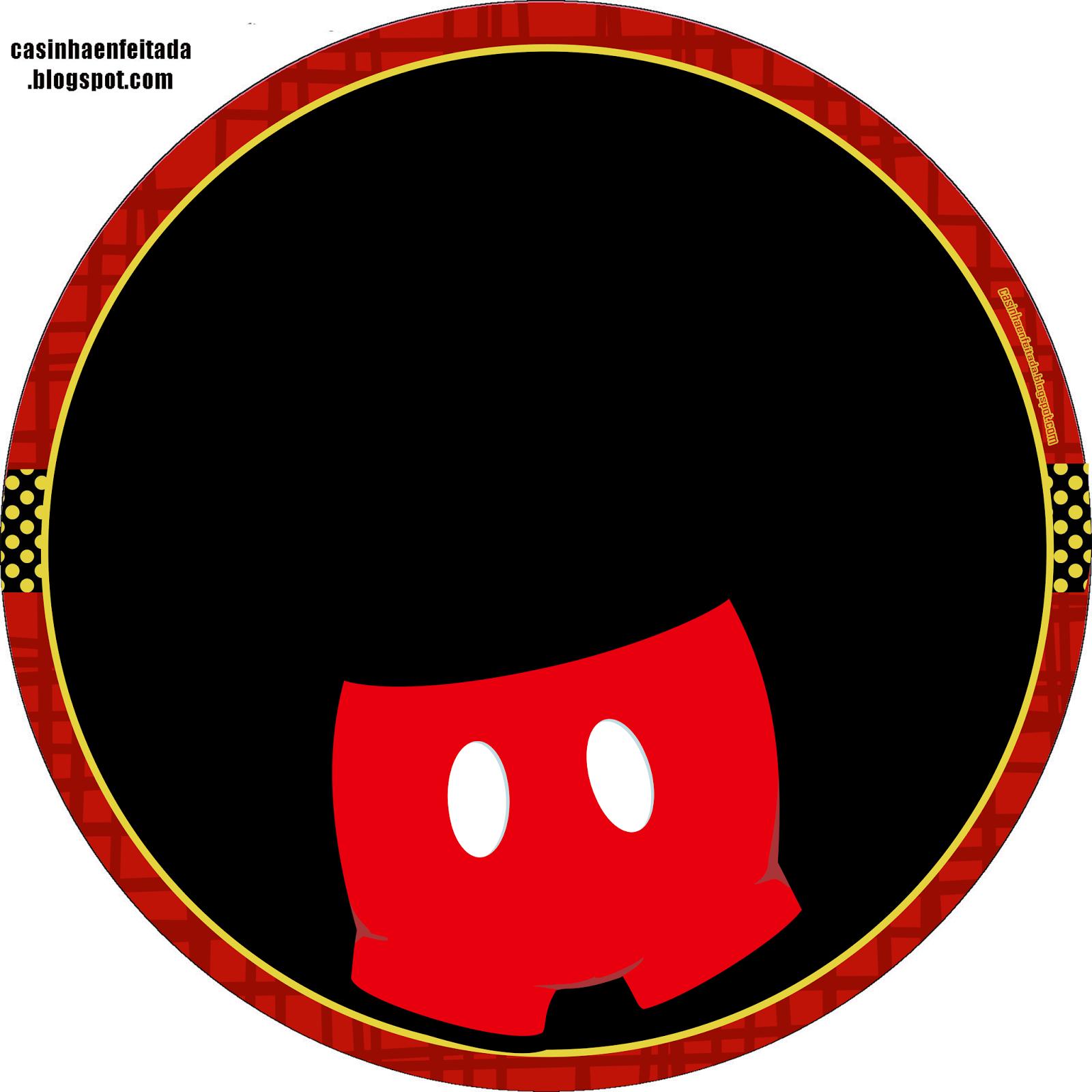Kit Mickey Preto Vermelho e Amarelo Para Imprimir Grátis | Mickey ...