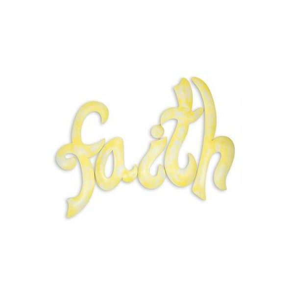 NOVICA Yellow Iron Handcrafted Inspirational Faith Wall Sign ($48 ...