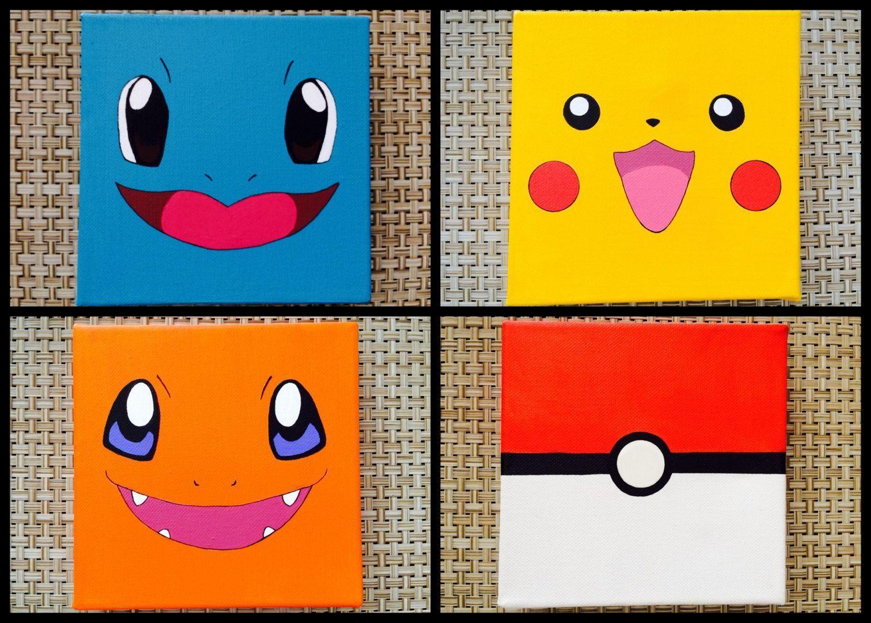 15 Deco Chambre Pokemon  Kids canvas, Pokemon painting, Mini